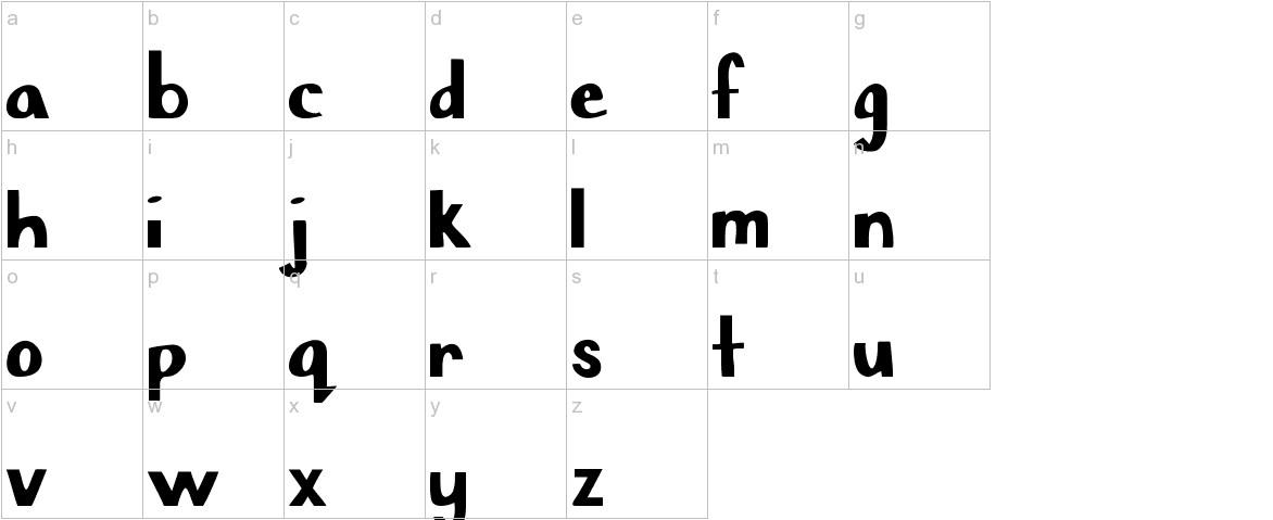Chisel Mark lowercase