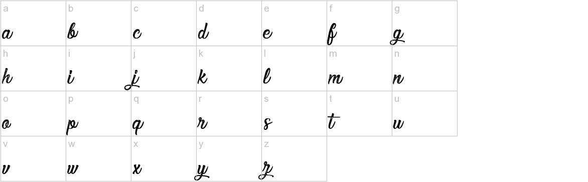Elegant and Sensational lowercase