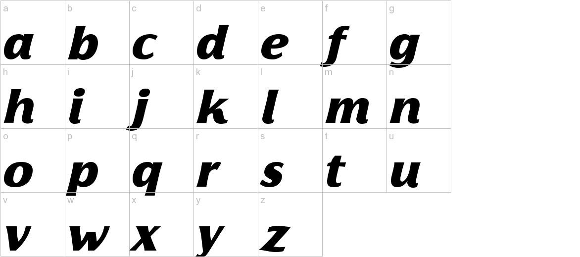 Florentia Black Italic lowercase