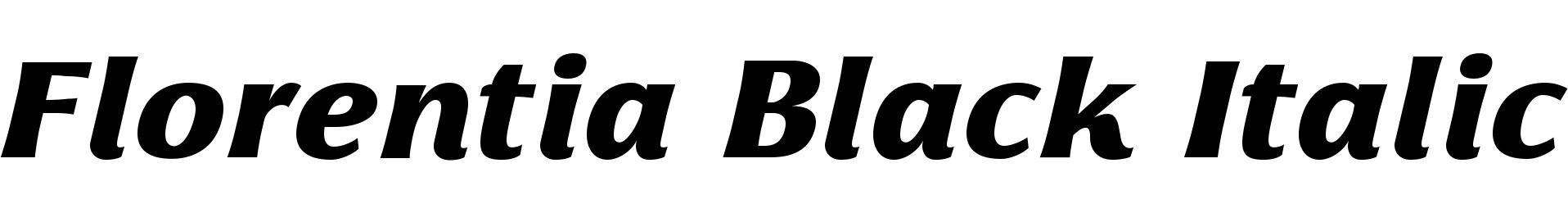 Florentia Black Italic