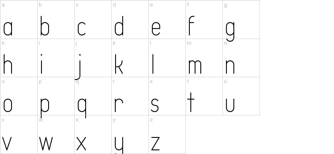Typo Quik Thin Demo lowercase