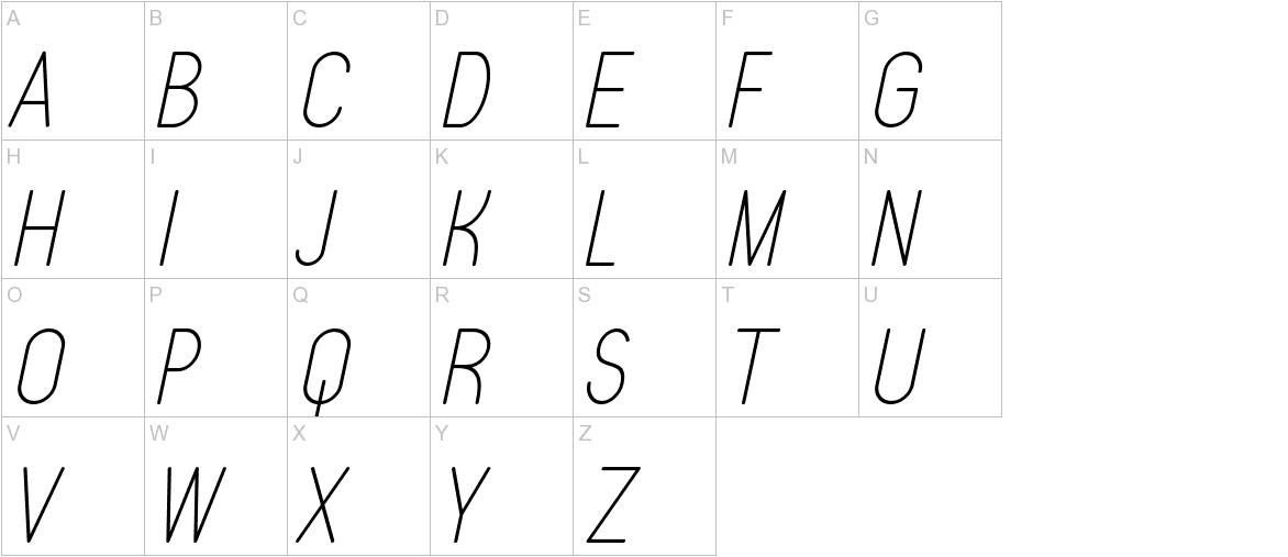Typo Quik Thin Demo Italic uppercase