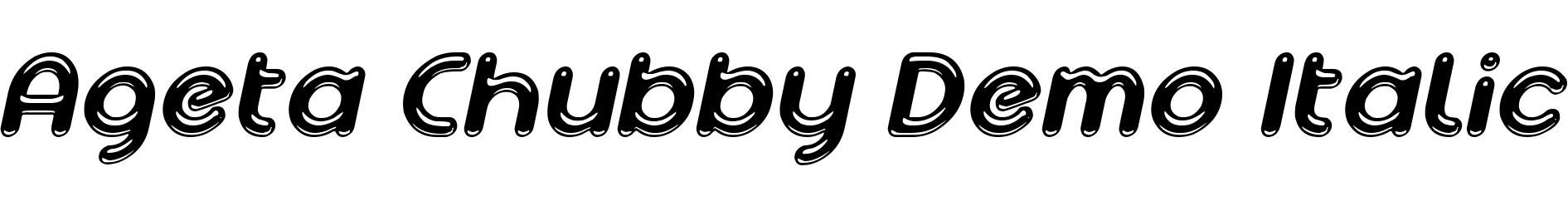 Ageta Chubby Demo Italic