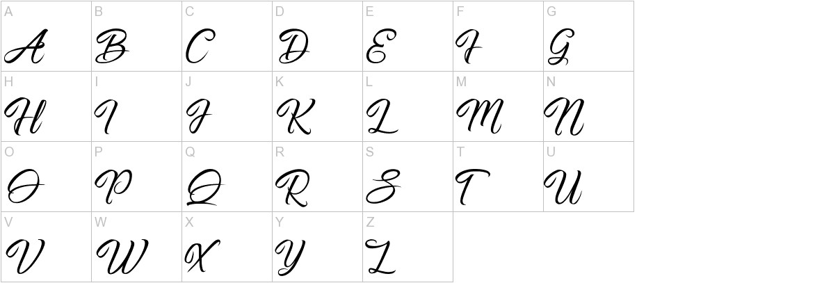 Pictorial Signature uppercase