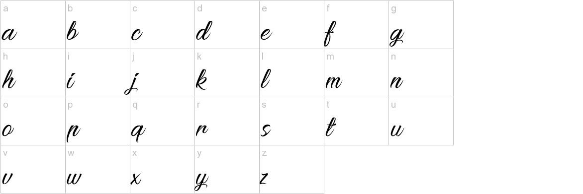 Pictorial Signature lowercase