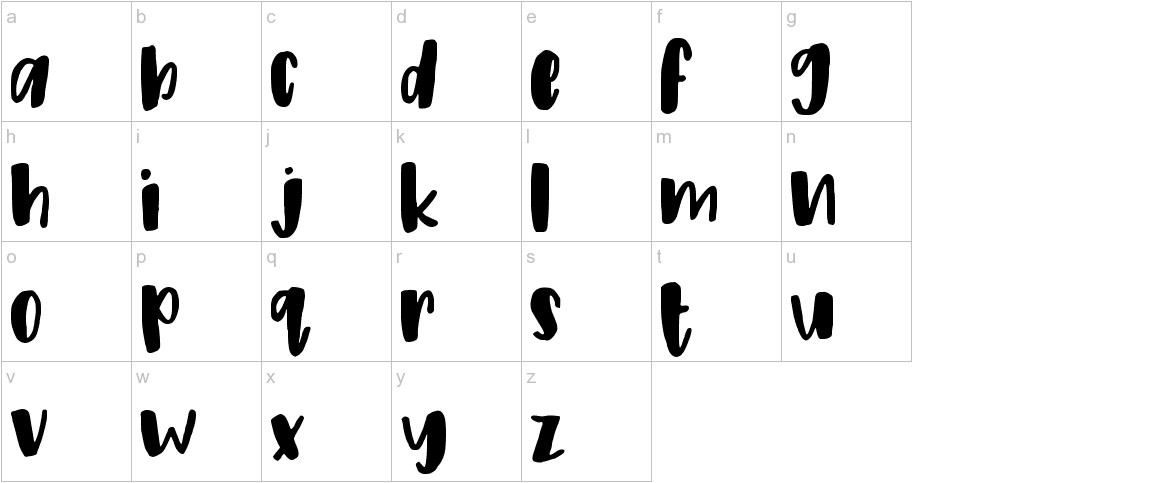 Peony Regular lowercase