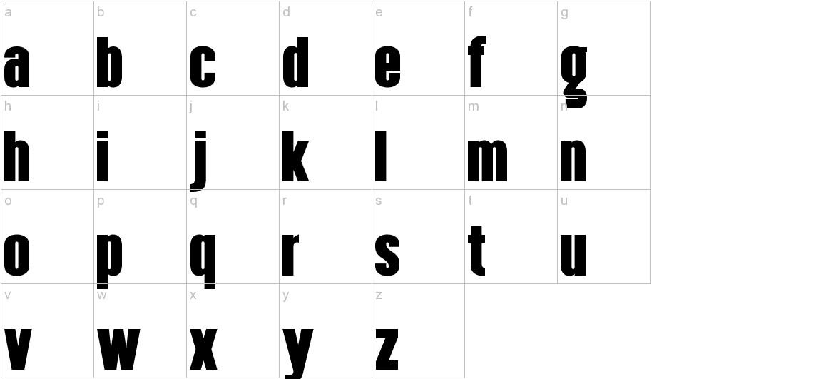 Hennigar lowercase