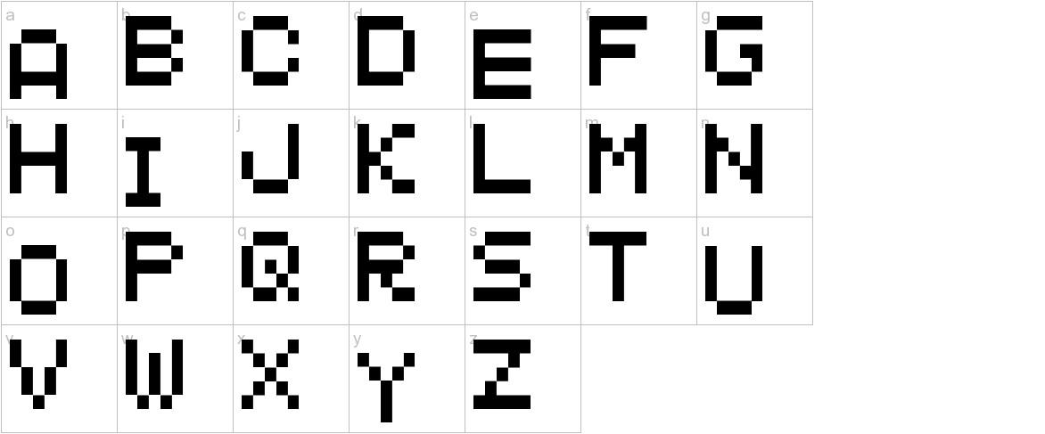 MANIC MINER lowercase