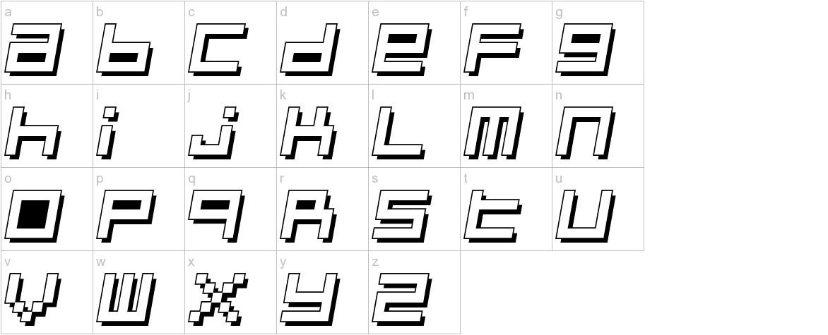 Optimal 3d lowercase