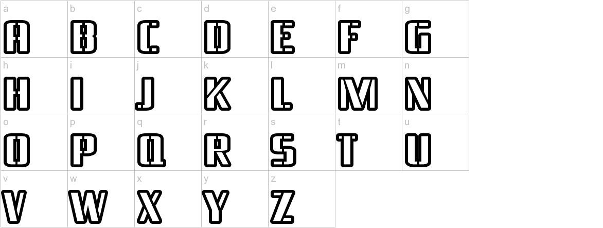 Braeside Outline lowercase