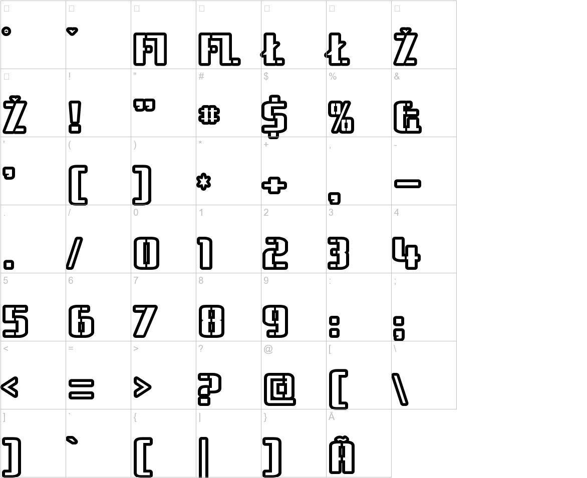 Braeside Outline characters