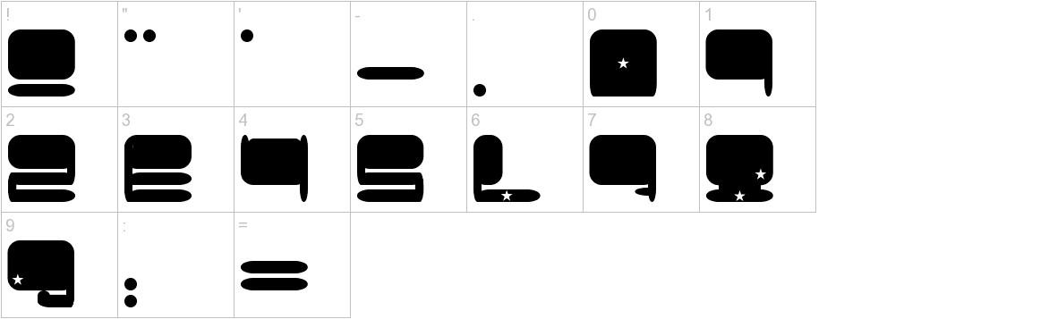Plumbum characters