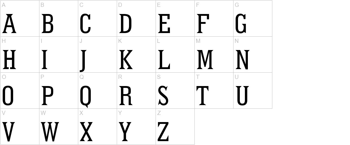 Pointed uppercase