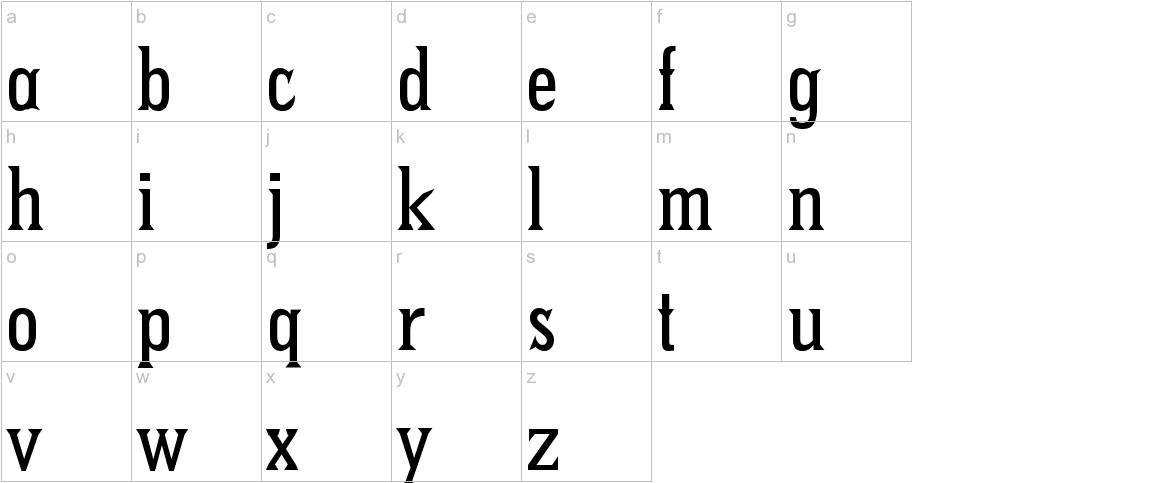 Pointed lowercase