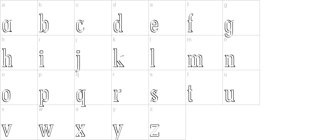 PointedOut lowercase