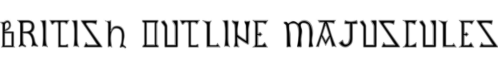 British Outline Majuscules