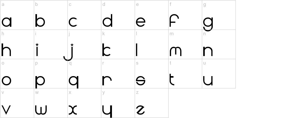Radius lowercase
