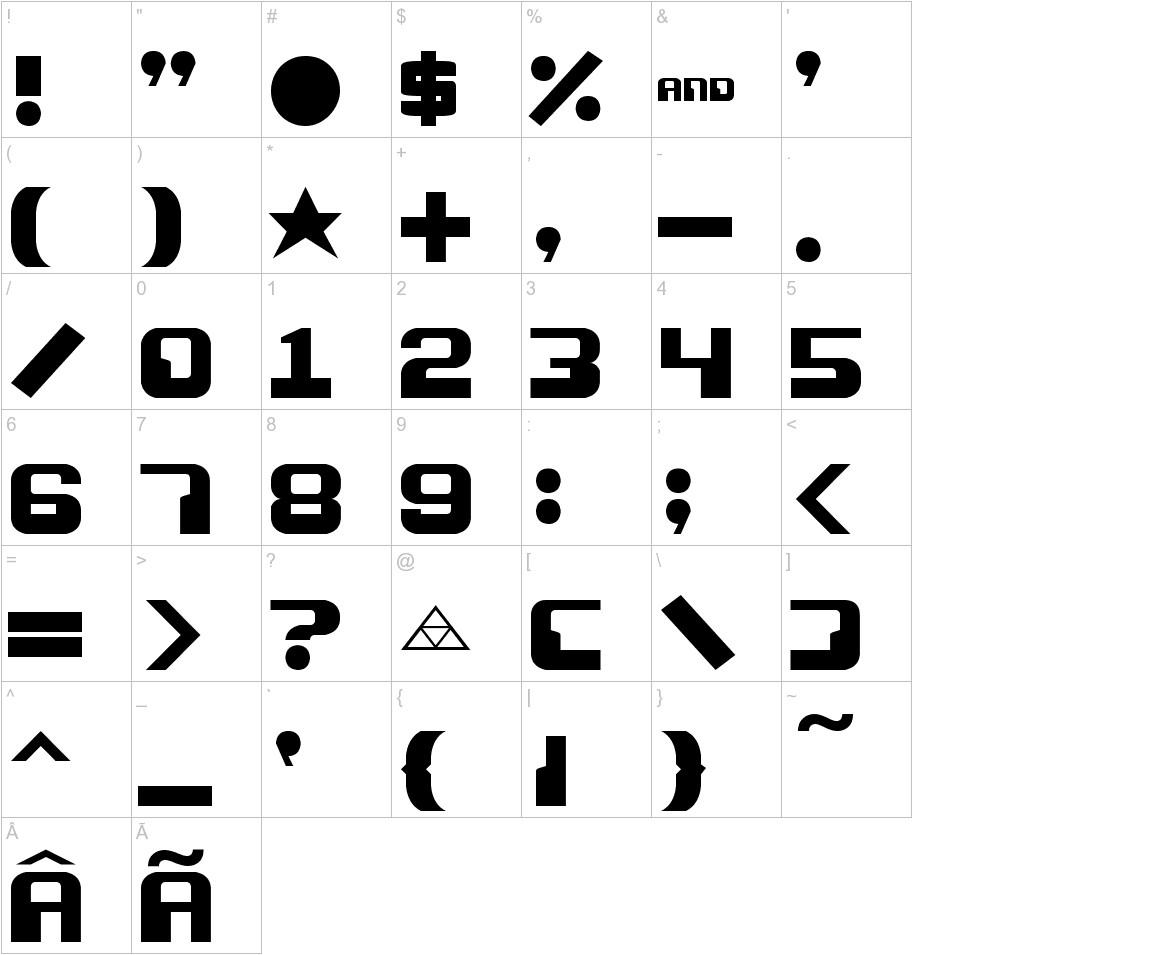Razor 1911 characters