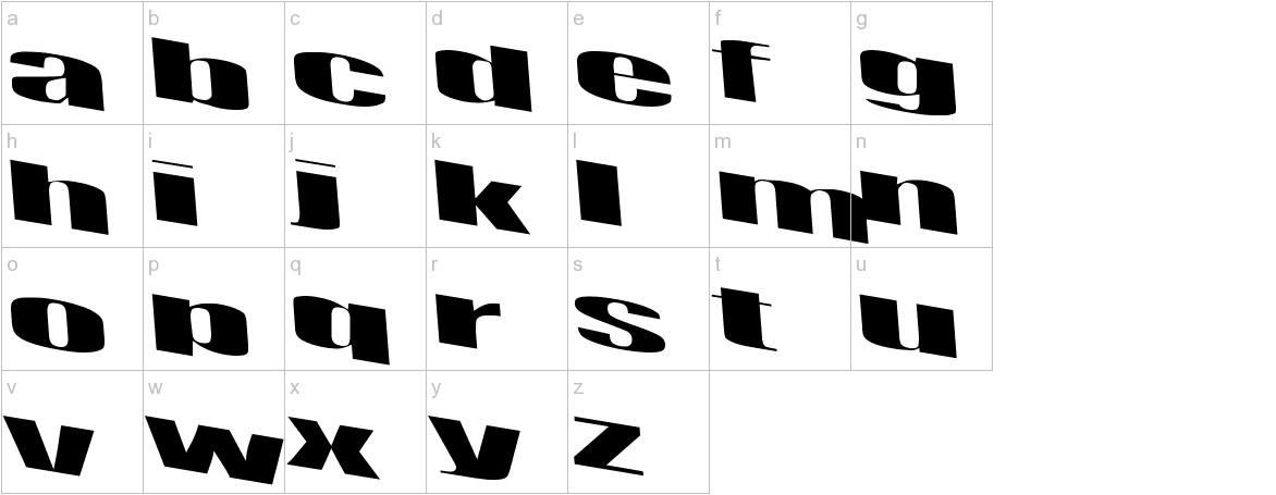 Retsyn Dilated lowercase