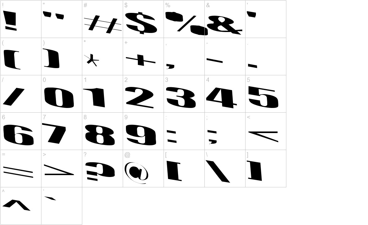 Retsyn Dilated characters