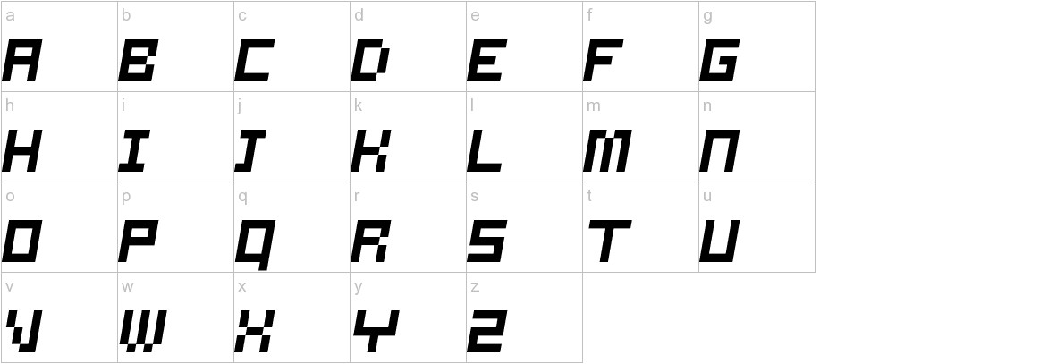 Samson Oblique lowercase