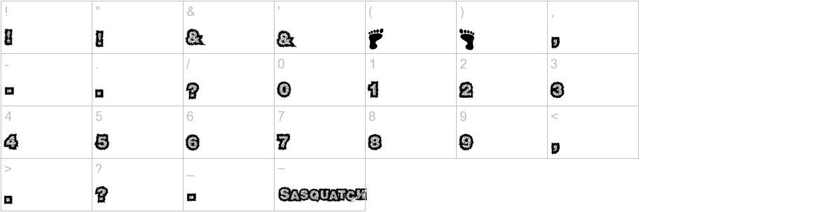 sasquatch characters