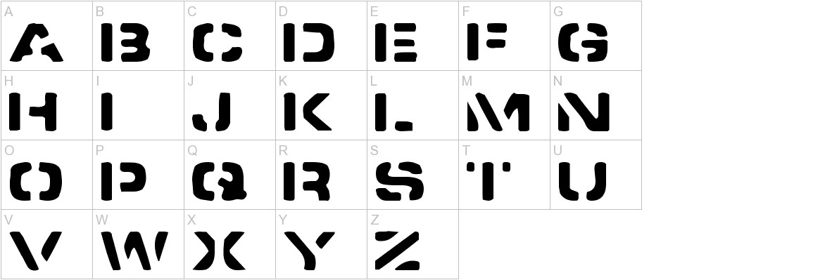 Spacedock Stencil uppercase