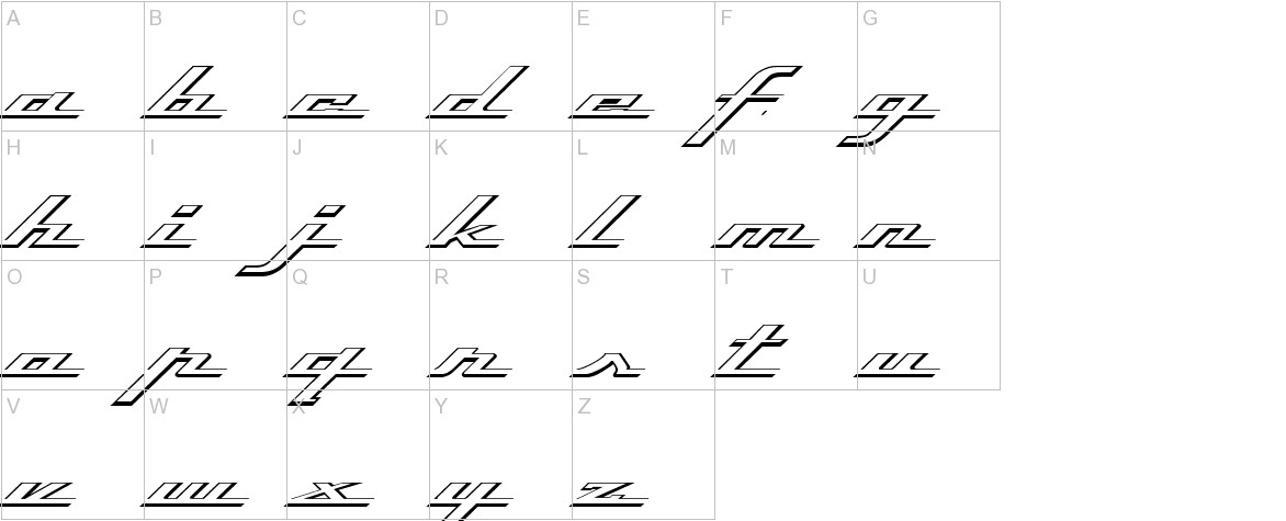 Top Speed Outline uppercase