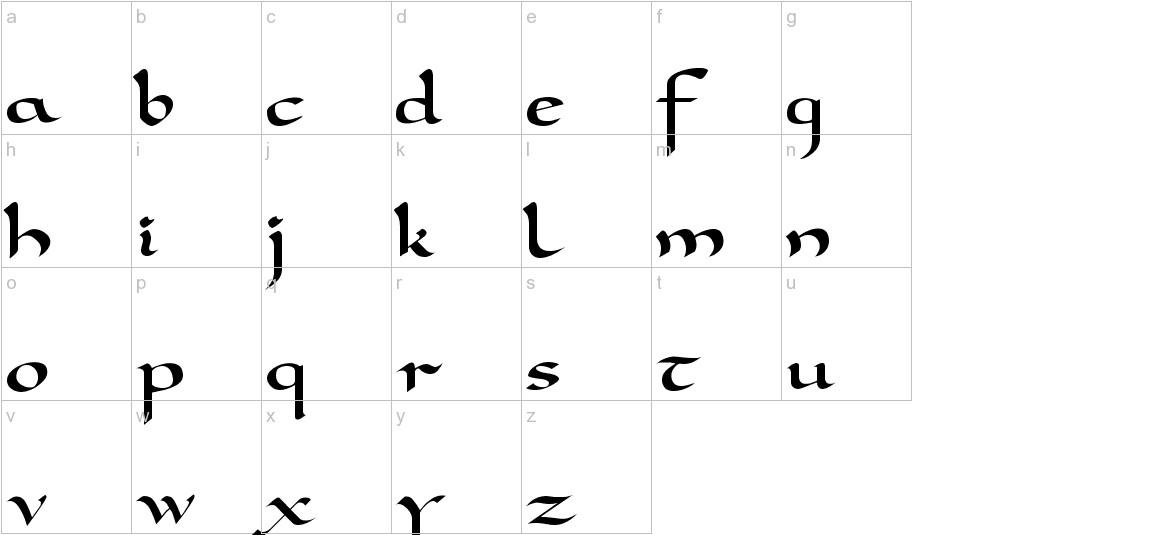 Carolingia lowercase