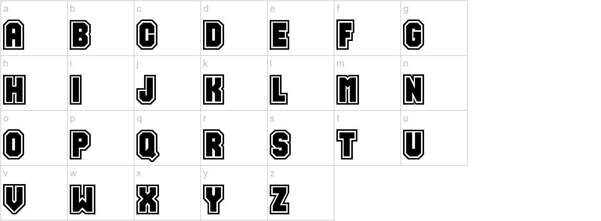 Varsity lowercase