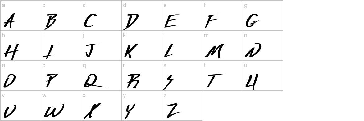 Vecker Bold lowercase