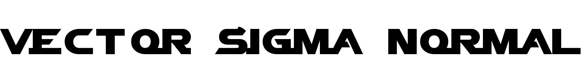 Vector Sigma Normal