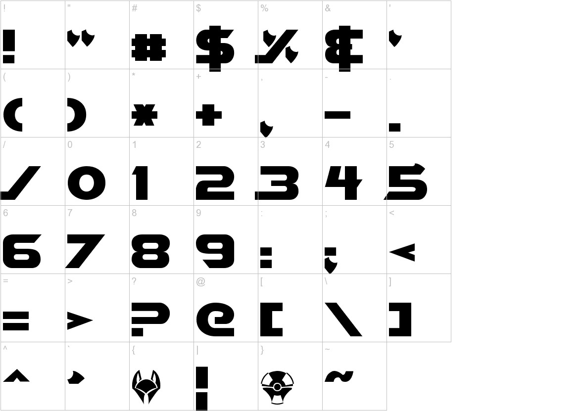 Vector Sigma Normal characters
