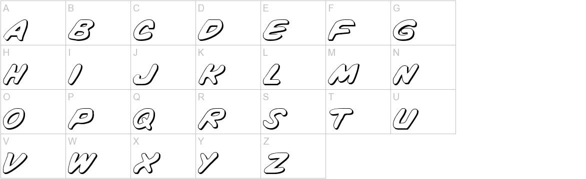 Vigilante Notes Shadow uppercase