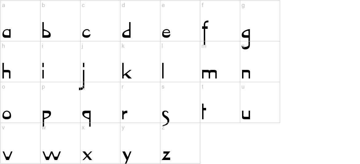 VireoFont lowercase