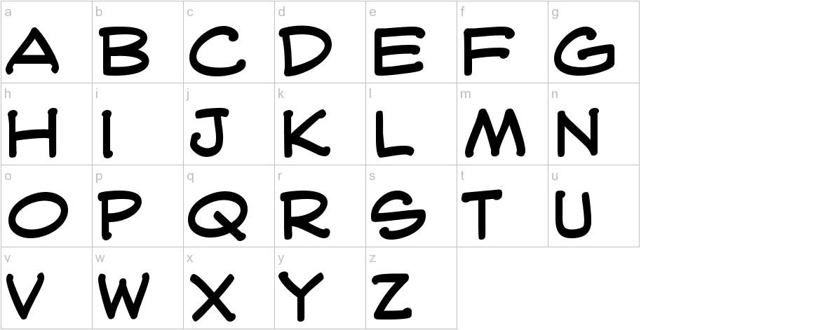 WebLetterer BB lowercase
