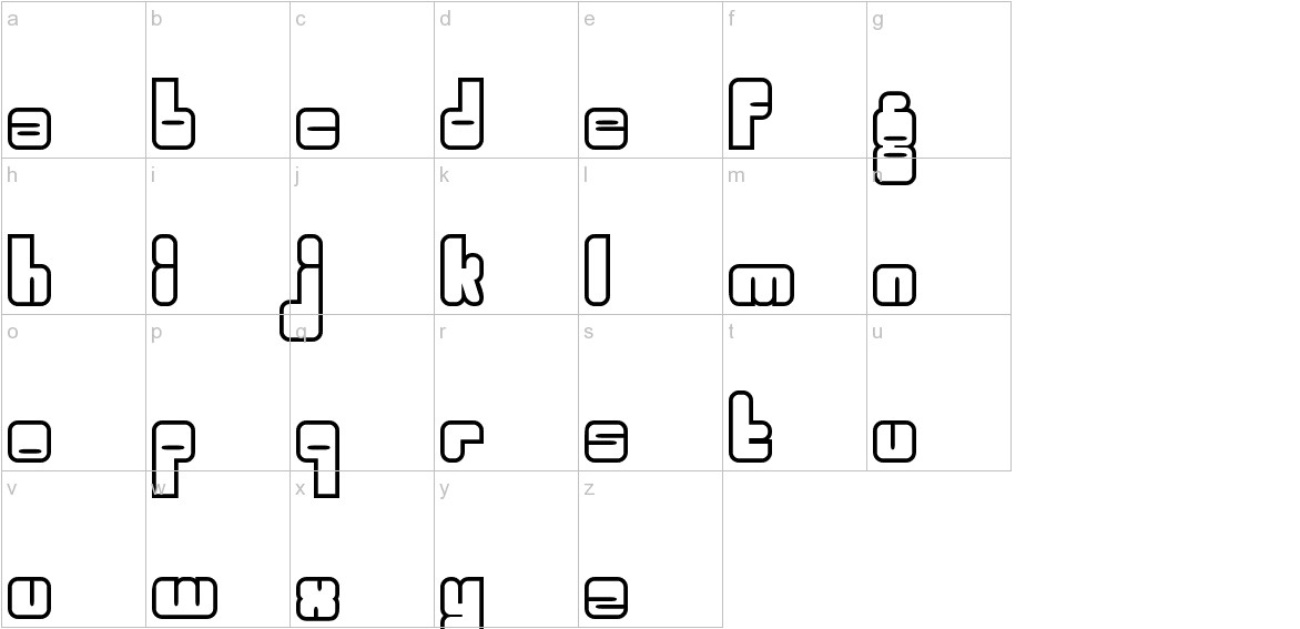 Woggle lowercase