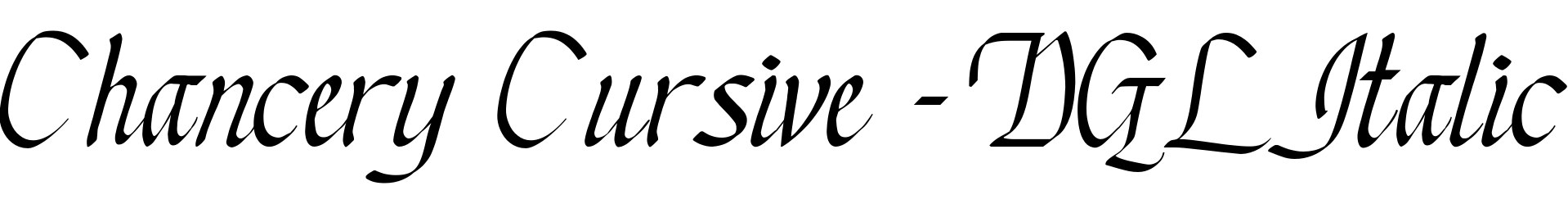 Chancery Cursive - DGL Italic