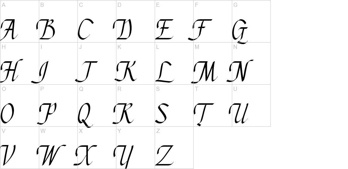 Chancery Cursive - DGL Italic uppercase