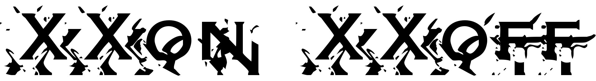 XXon XXoff