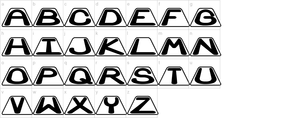 Zoidal lowercase