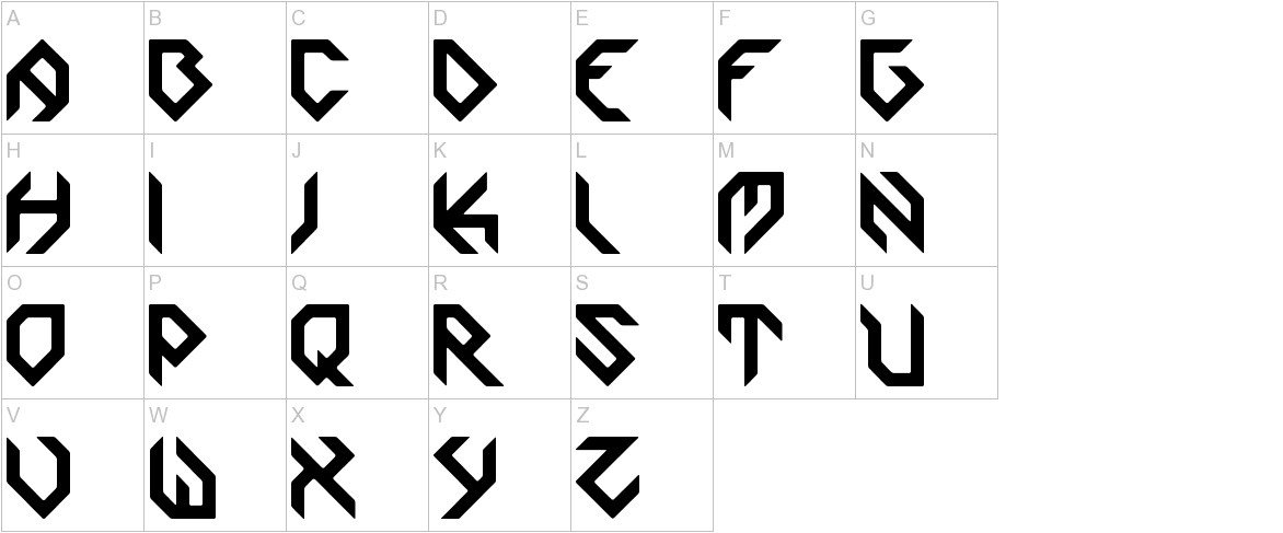 Zoomgroove uppercase