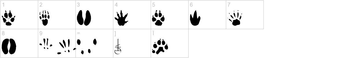AnimalTracks characters