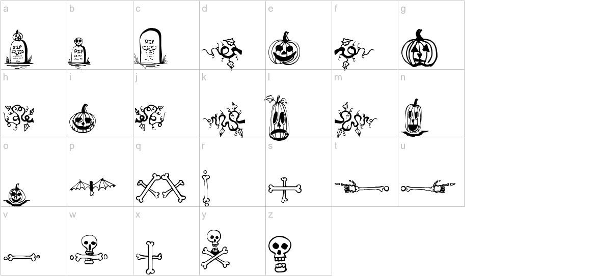 Halloween Borders lowercase