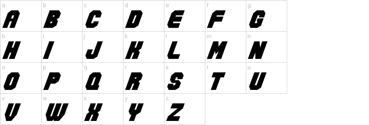 Action Force Normal lowercase