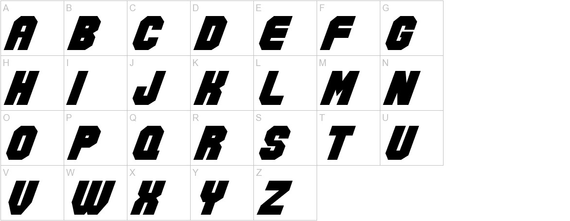 Action Force Normal uppercase