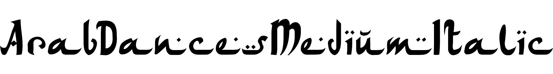 ArabDancesMediumItalic