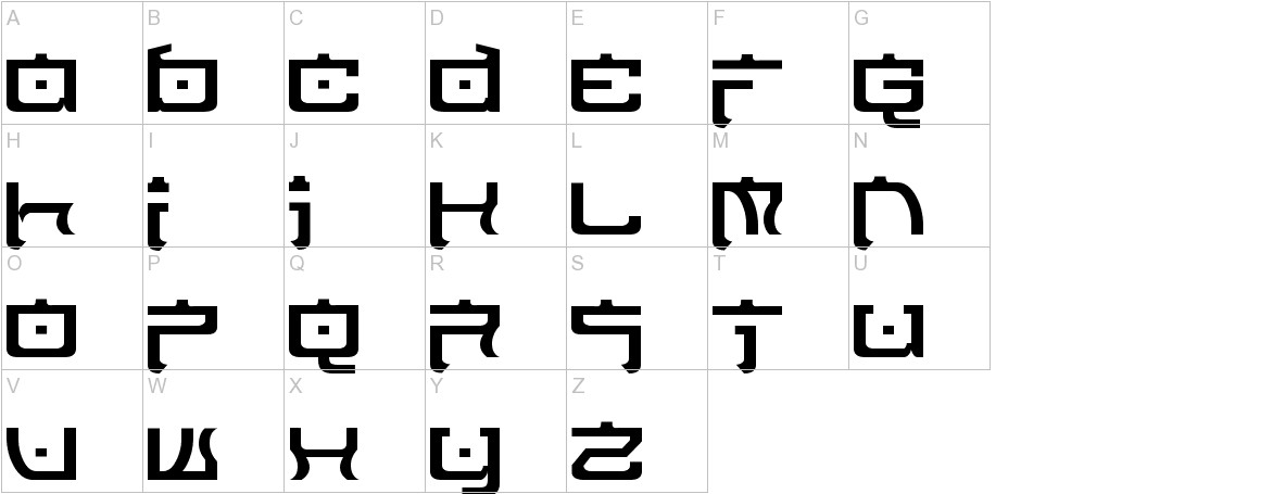 Nippon Tech Normal uppercase