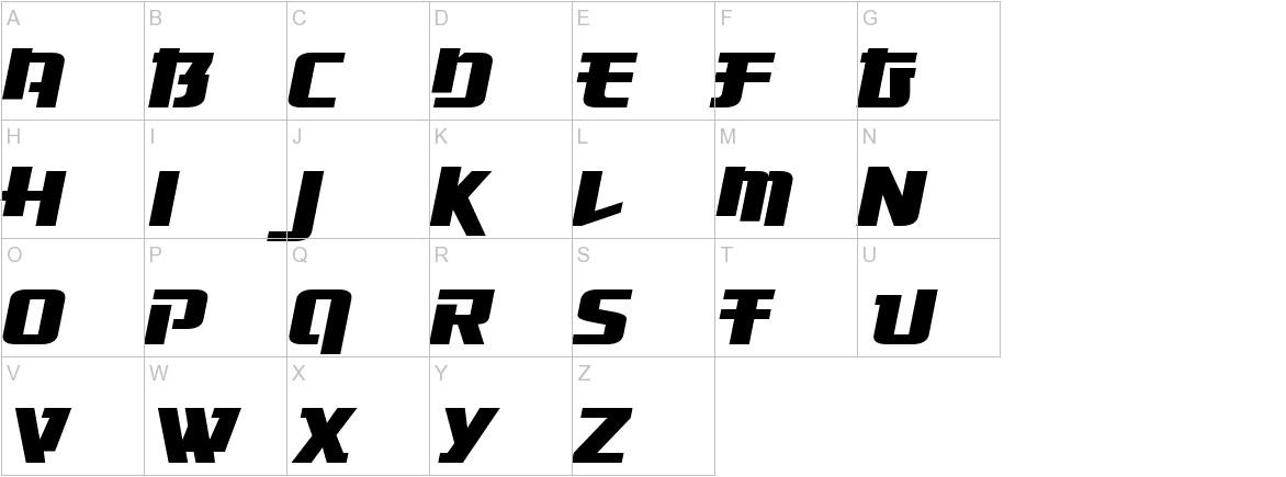 Osaka-Sans Serif uppercase