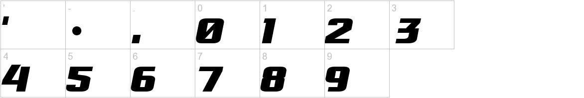 Osaka-Sans Serif characters